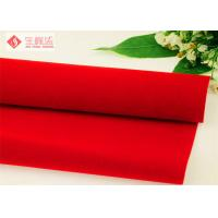 China Plain Red Velvet Flock Fabric Patterned For Packaging Gift Box on sale