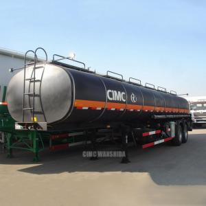 Quality Asphalt tanker trailer bitumen transportation tank trailer pitch tank trailer | CIMC TRAILERS for sale