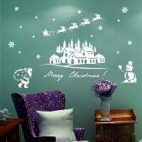 Buy Santa Claus Snowman Christmas Decorations Wall Stickers Bedroom Home Decoration at wholesale prices