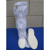 Convenient ESD Anti Static Clean Room Booties Easy Clean For Electronics Factory