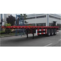 Quality 3 axles 13meters Flat bed semi trailer for 20ft/40ft containers from China in factory price Fuwa 3 axles trailer for sale