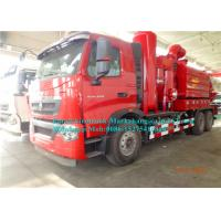 Buy cheap Sinotruck 8000L Combination Sewer Cleaning Truck With Vacuum Suction System from wholesalers