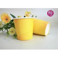 Buy cheap 2.5oz Promotion Single Wall Paper Cups , Yellow Disposable Paper Cups With Lids from Wholesalers