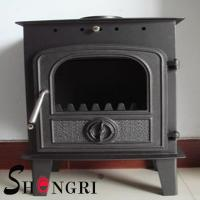 Quality 6KW wood casting iron stoves forest paint surface for sale