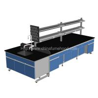 China 3000x1500x850mm Lab Island Bench With Adjustable Footing Wooden Cabinets on sale