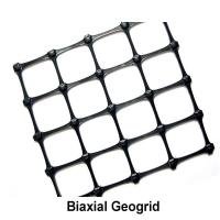 Quality Black Soil Grid Pp Biaxial Geogrid / 40kn Geogrid For Road Construction for sale