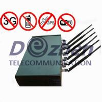 China Adjustable High Power 6 Antenna WiFi & GPS & Cell Phone Jammer on sale