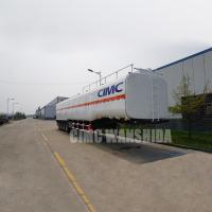 Quality Gasoline transport truck trailer crude oil tanker trailers petroleum tanker trailer for sale  | CIMC TRAILERS for sale