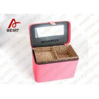 Buy Leopard Printed Cosmetics Foldable Paper Box With Mirror Matte Lamination Suface at wholesale prices