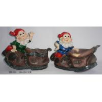 Quality Polyresin spirit with leather shoes base for sale