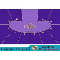 Anti - Fade Baccarat Table Layout For 10 Players In Casino Gambling Games