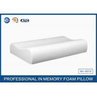 Quality Pure Comfort Contoured Memory Foam Pillow With Cooling Gel / Polyurethane Foam Pillow for sale