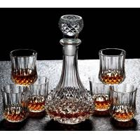 China Diamond Design Whiskey Glass Bottle With Cups For Night Bar Offer Whiskey on sale
