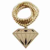 Quality Fancy Beaded Necklace with Good Wood Material, 2012 Fashionable Designs for sale