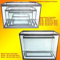 black frame aquarium fish tank narrow fish tank for sale