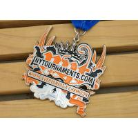 Buy cheap Zinc Alloy Custom Enamel Medallions , Karate Awards Gold Medals With Full from wholesalers