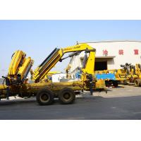Quality 14T Mobile cargo crane truck knuckle boom Safety Transportation for sale
