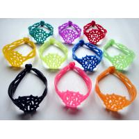 Quality promotion hot selling embossed silicone bracelet for sale