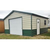 Quality Small Warehouse Steel Building Construction With Rolling Door And Single Door for sale