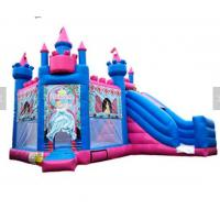 China Princess Inflatable Bounce House Combo / Jumpy House With Slide OEM Service on sale