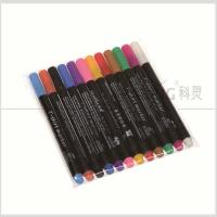 Quality Colorful Non-Toxic Fabric Paints And Pens For Creating On Shoes / Hats / T Shirts With 2.0mm Fiber Tip #FM20 for sale