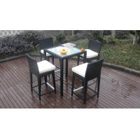 China Luxury All Weather Resin Wicker Bar Set For Home Patio / Balcony on sale