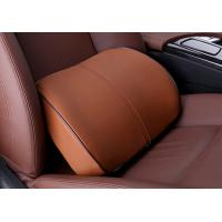 Quality Coffee Memory Foam Car Seat Waist Or Back Support Artificial Leather Cover for sale