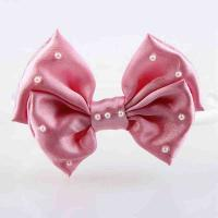 Quality Headband Baby Girl Hair Accessory Ribbon Bow Customiazed Size With Pearl for sale