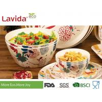 Quality High Strength Bamboo Salad Bowl Set Heat Resistant Food Grade Printing Decal for sale