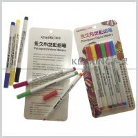 Quality Regular nib Fabric paints water based 20 colors permanent textile marker pens for sale