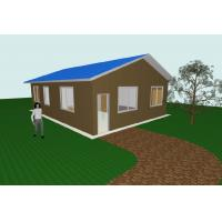 Buy Modern Flat Pack 3 Bedroom House Plans Modular Homes For Guard House , Shop at wholesale prices