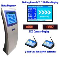 "Quality 17 inch Automatic Banking Queue Management System with 7"" Tablet Calling Pad Terminal,Queue Number Ticket Kiosk System for sale"