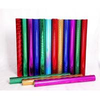 Quality Red Blue Green Holographic Foil Paper Flat Hot For Greeting Card for sale