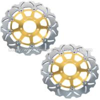 Quality Aluminium CNC Motorcycle Parts Front Left / Right Suzuki GSXR Brake Rotors for sale