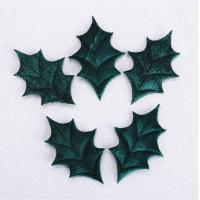 Quality Holly Leaves Purple Christmas Party Crafts Decorative For Winter Wedding for sale