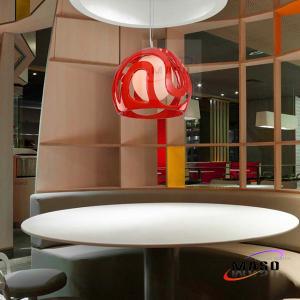 Helmet Shape Round Ball Resin Pendant Bar Lighting Application LED Bulb Source