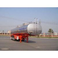 Quality 30000L-3 Axles-Stainless Steel Tanker Semi-Trailer for Grape Wine, Milk for sale