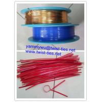Quality PET plastic wired twist tie/bag closure for sale