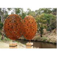 Quality Vintage Style Corten Steel Sculpture Corrosion Stability Customized Size for sale