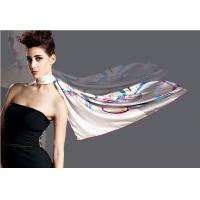 Hand Rolled Hand Painted / Screen Printing Scarves Silk Satin Scarf