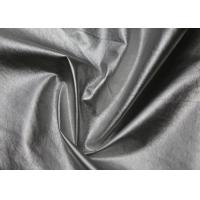 0.4 Mm Silver PU Synthetic Leather Hydrolysis Resistance Eco - Friendly