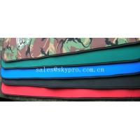Quality Good flexibility Red / green / black neoprene fabric Roll with polyester coating for sale