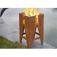 Quality Durable Outdoor Corten Steel Fire Pit Barbecue Customized Size Available for sale
