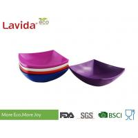 Quality Durable Square Melamine Plates Bowls BPA Free Custom Made With Printing Logo for sale