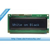 Quality White on Black 3.3V Character LCD Display ROHS , 16x2 LCD Display for sale
