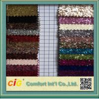 Quality Decoration Glitter PVC Synthetic Leather Fabric / Shiny LeatherFabric for sale