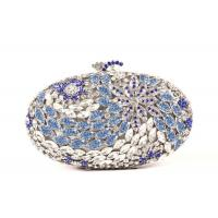 Shell Shaped Crystal Evening Clutch Bags Silver Colored For Women Wedding