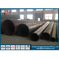 Quality ASTM S123 Three Circuit Polygonal Electrical Power Pole , Yield Strength 235 Mpa for sale