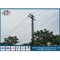 China 10KV Hot Dip Galvanized Electrical Power Pole Made Of Hot Roll Steel Q235 on sale