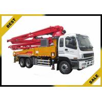 Quality 42 Meter Cement Pump Truck  Symc Control , Boom Pump Truck Smart Boom System for sale